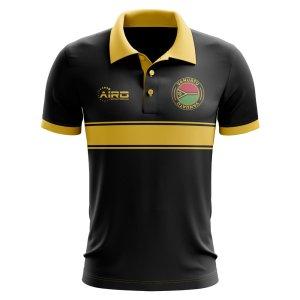 Vanuatu Concept Stripe Polo Shirt (Black) - Kids