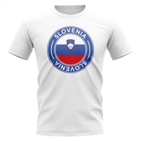 Slovenia Football Badge T-Shirt (White)