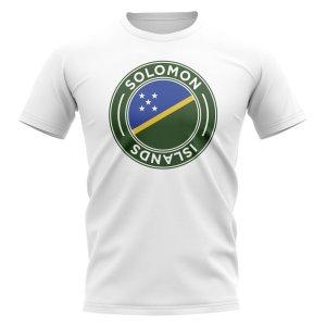 Solomon Islands Football Badge T-Shirt (White)