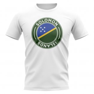 Solomon Islands Football Badge T-Shirt (White)