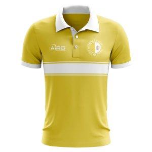 Vatican City Concept Stripe Polo Shirt (Yellow)