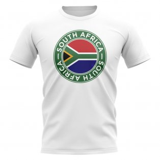 South Africa Football Badge T-Shirt (White)