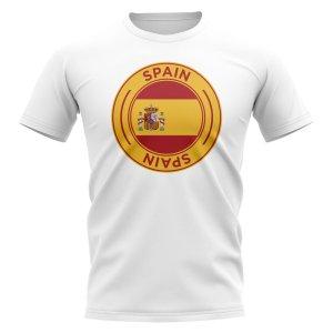 Spain Football Badge T-Shirt (White)