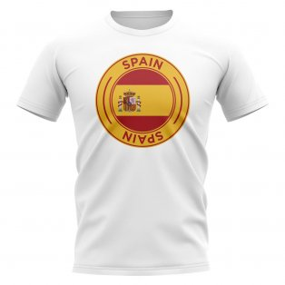 Spain Football Badge T-Shirt (White)