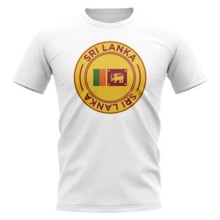 Sri Lanka Football Badge T-Shirt (White)