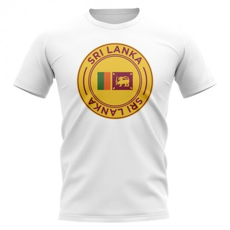 Sri Lanka Football Badge T-Shirt (White)