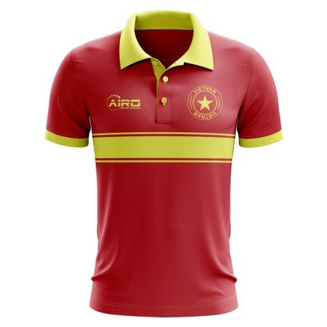 Vietnam Concept Stripe Polo Shirt (Red)