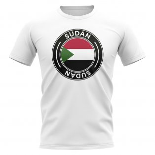 Sudan Football Badge T-Shirt (White)