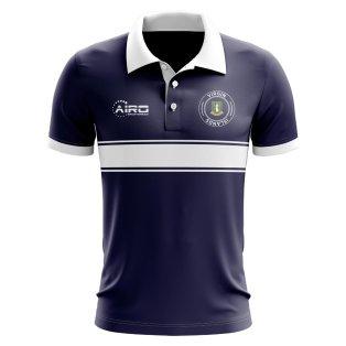 Virgin Islands Concept Stripe Polo Shirt (Navy)