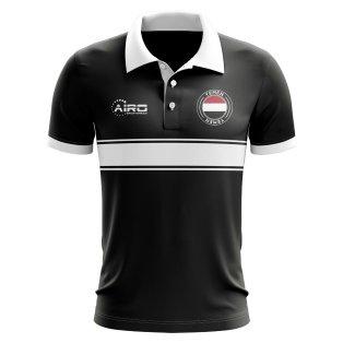 Yemen Concept Stripe Polo Shirt (Black)