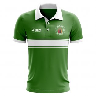 Zambia Concept Stripe Polo Shirt (Green)