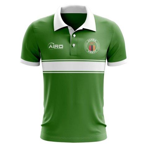 Zambia Concept Stripe Polo Shirt (Green) - Kids