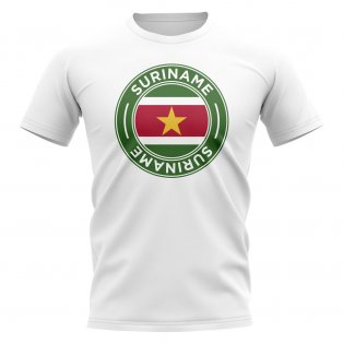 Suriname Football Badge T-Shirt (White)