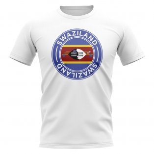 Swaziland Football Badge T-Shirt (White)
