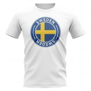 Sweden Football Badge T-Shirt (White)