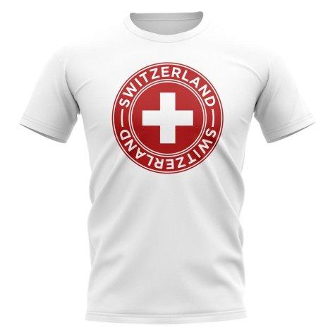 Switzerland Football Badge T-Shirt (White)
