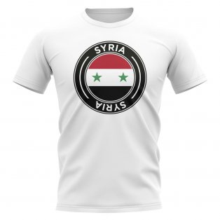 Syria Football Badge T-Shirt (White)