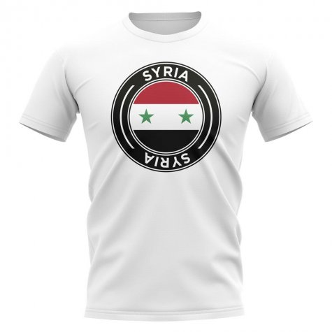 Syria Football Badge T-Shirt (White)