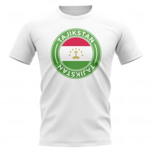 Tajikstan Football Badge T-Shirt (White)