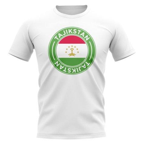 Tajikstan Football Badge T-Shirt (White)