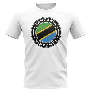 Tanzania Football Badge T-Shirt (White)