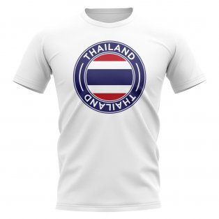 Thailand Football Badge T-Shirt (White)