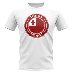 Tonga Football Badge T-Shirt (White)