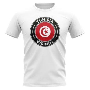 Tunisia Football Badge T-Shirt (White)