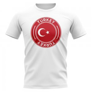 Turkey Football Badge T-Shirt (White)