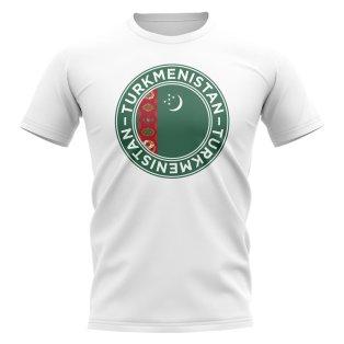 Turkmenistan Football Badge T-Shirt (White)