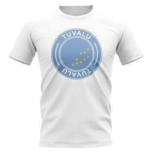 Tuvalu Football Badge T-Shirt (White)