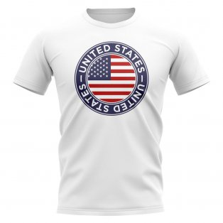 df832e9ad USA Football Badge T-Shirt (White)