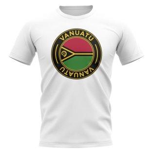 Vanuatu Football Badge T-Shirt (White)