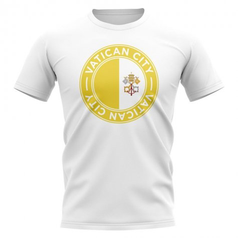 Vatican City Football Badge T-Shirt (White)