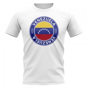 Venezuela Football Badge T-Shirt (White)