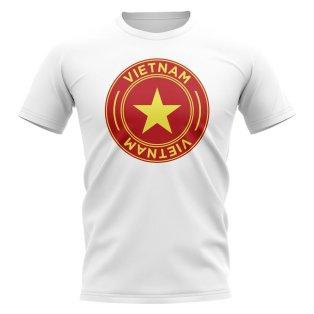 Vietnam Football Badge T-Shirt (White)