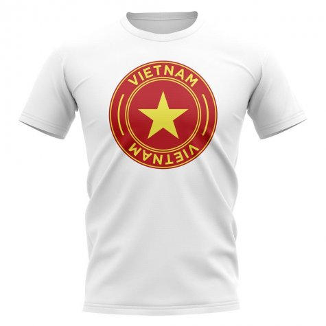 Vietnam Football Badge T-Shirt (White)