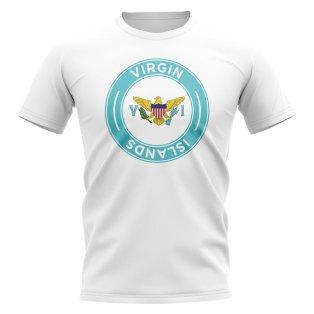 U.S Virgin Islands Football Badge T-Shirt (White)