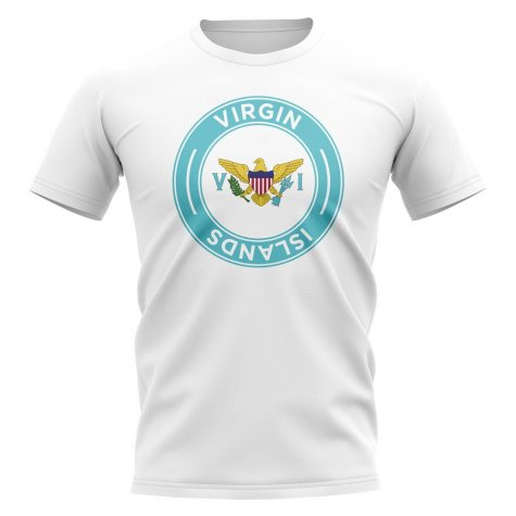 U.S Virgin Islands Football Badge T-Shirt (White)