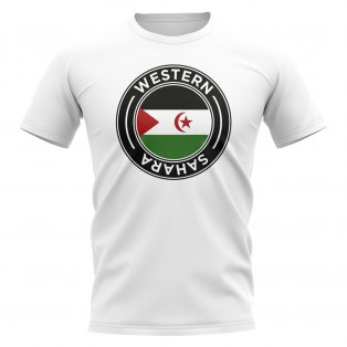 Western Sahara Football Badge T-Shirt (White)