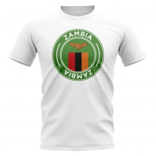 Zambia Football Badge T-Shirt (White)