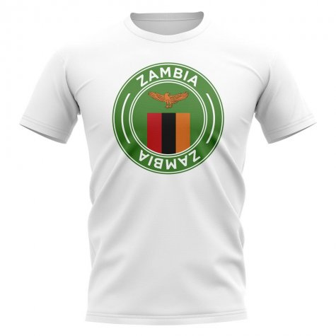 Zambia Football Badge T-Shirt (White)
