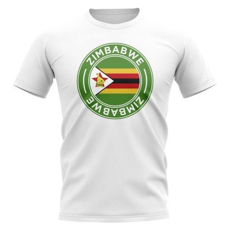 Zimbabwe Football Badge T-Shirt (White)