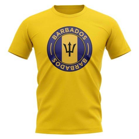 Barbados Football Badge T-Shirt (Yellow)
