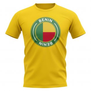 Benin Football Badge T-Shirt (Yellow)