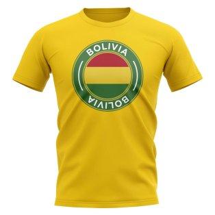 Bolivia Football Badge T-Shirt (Yellow)
