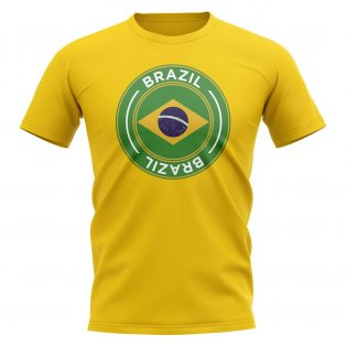 Brazil Football Badge T-Shirt (Yellow)