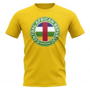 Central African Republic Football Badge T-Shirt (Yellow)