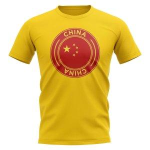 China Football Badge T-Shirt (Yellow)