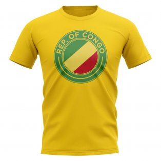 Congo Republic Football Badge T-Shirt (Yellow)